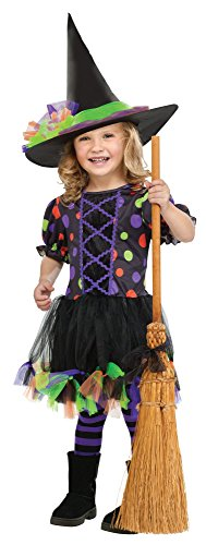 Little Witch Costumes (Little Girls' Polka Dot Witch Costume X-Large (4 - 6))