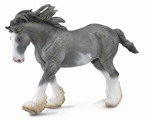 Realistic Loads Coal - Collecta Black Sabino Roan Clydesdale Stallion Vinyl Toy Animal Figure