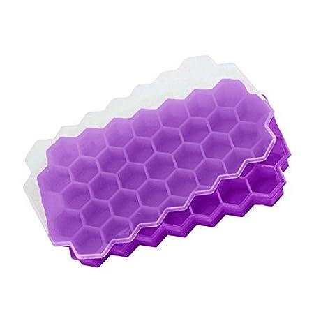 SODIAL 37 cubitos de hielo panal helado forma DIY Pops moldes de ...