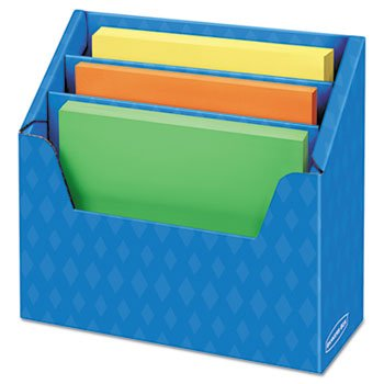 Folder Holder With Compartment Organizer, 12 1/2 X 9 X 5 5/8, Blue by Fellowes