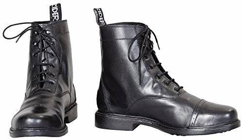 (TuffRider Women's Baroque Lace Up Laced Paddock Boots, Black, 9 )