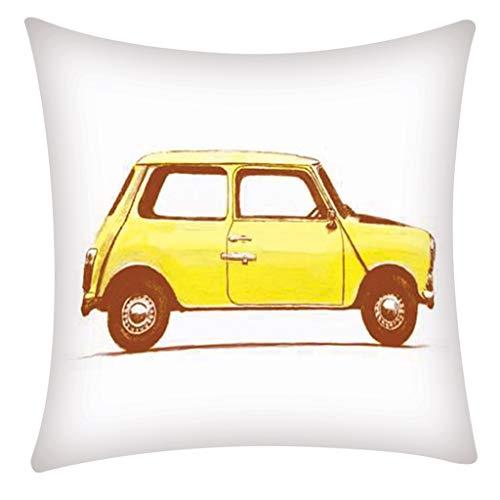 QBQCBB Pillow Case Polyester Fiber Cushion Sofa Car Cushion Cover Home Decoration 45x49cm(D)