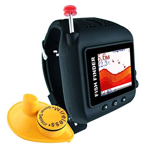 Lucky Watch Design Fish Finder 200ft (60m) Wireless Range 45m Water Depth Sonar Sensor Rechargeable Fish Locator Detector