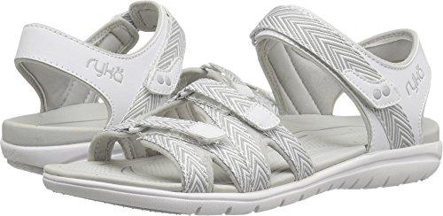 Ryka Women's Savannah Sandal White/Grey 8 W ()