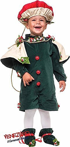 Italian Made Deluxe Baby & Toddler Boys Mushroom Toadstool King Nature Carnival Halloween Book Day Week Fancy Dress Costume Outfit 1-3 Years (2 -