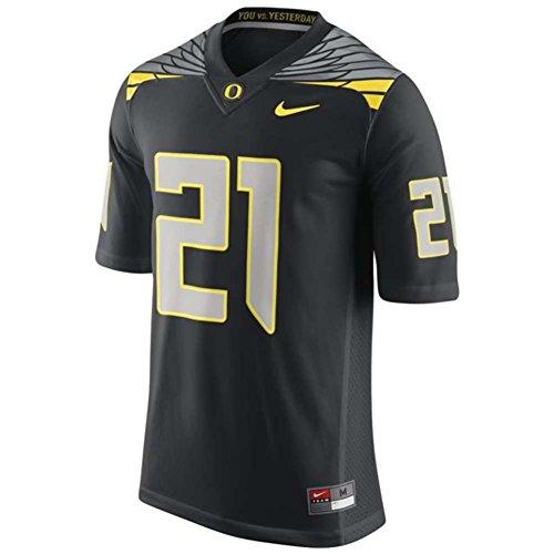 Oregon Ducks Replica Football Jersey - #21 Black - Men - L