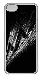 Slim iphone 5C Transpartent Case Abstract Painting Shadowness Custom Snap on Fits Hard Back Case for iphone 5C