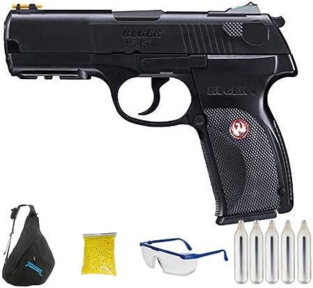 UMAREX RUGER P345 CO2 - Pistola de Airsoft Calibre 6mm (Arma Aire Suave de Bolas de plástico o PVC). Sistema: CO2. <3,5J