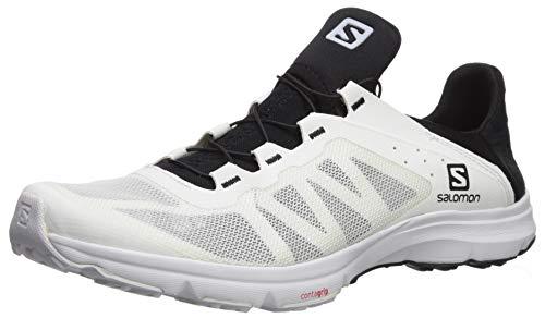 Salomon Athletic Sandals - Salomon Men's Amphib Bold Athletic Shoe, White/White/Black, 10 Regular US