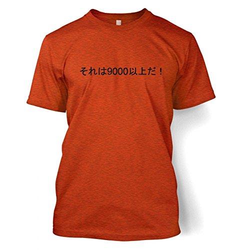 It's Over 9000! Herren t-shirt (Large (42/44)/Antique Orange)