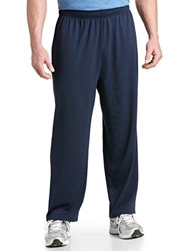 Pantaloni da maglia a maglia asciutta Big & Tall (4XL, blu scuro)