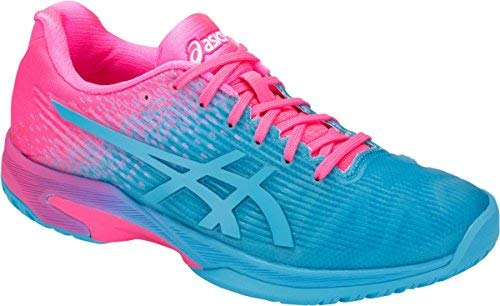 ASICS Solution Speed FF Ltd Women's Tennis Shoe (Aquarium/Pink) (9)