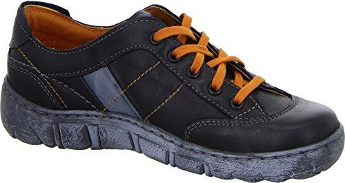 Kacper 2-0180 Damen Halbschuh Sneaker Leder Schwarz Orange