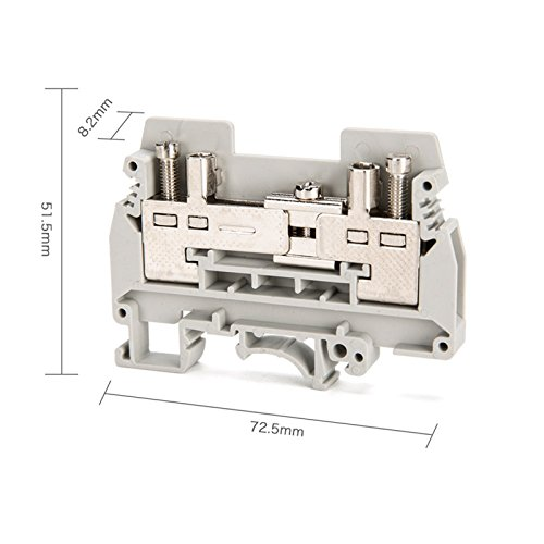Suyep URTKS Rail Mount Test disconnect Current Terminal Block 400V Cable Gray (20)