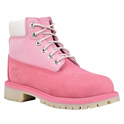 Timberland 6'' Waterproof Boots Unisex Juniors (6.5 Y US, Pink/Pink ) by Timberland