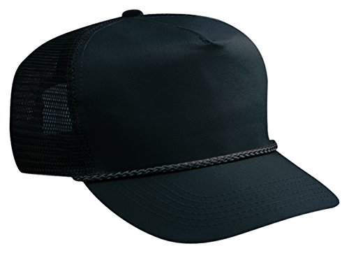 Otto Caps Cotton Twill High Crown Golf Style Mesh Back Caps - 5 Panel Twill Structured Cap