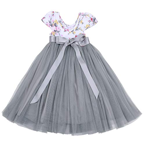 Flofallzique Summer Girls Dress Easter Baby Clothes Floral