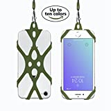 Phone Lanyard for Smartphone iPhone X 8,7 6S iPhone 6S Plus,Samsung Galaxy Google Pixel 4-6 inch,Cell Phone Carriers Holder Lanyard Silicone Lanyard SmartPhone Case(Capulet Olive)