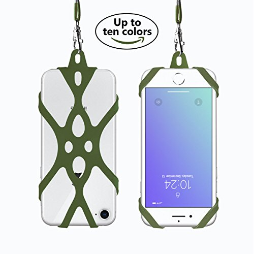 2 in 1 Cell Phone Lanyard Rocontrip Strap Case Holder with Detachable Neckstrap Universal for Smartphone iPhone 8,7 6S iPhone 6S Plus,Samsung Galaxy Google Pixel 4.7-5.5 inch (Capulet ()