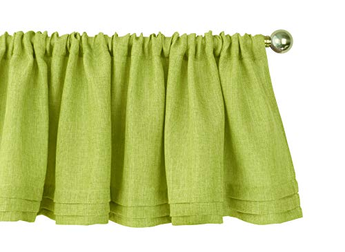 Aiking Home Semi-Sheer Faux Linen Pleated Valance 56 by 14 I