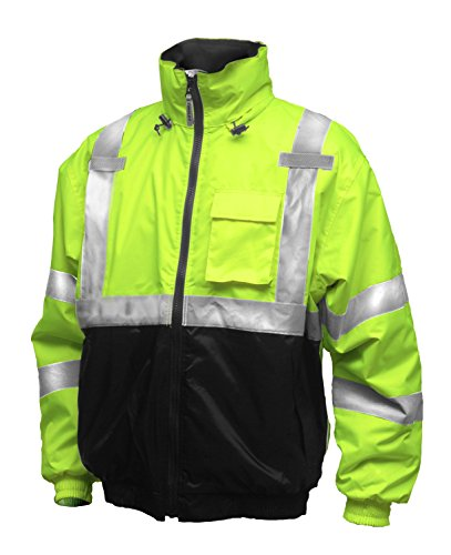 Tingley Rubber J26112 Bomber II Jacket, Large, Lime - Fire Dept Jackets
