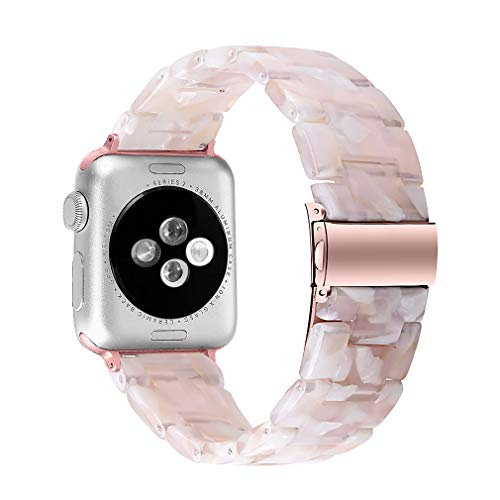 MEFEO Compatible with Apple Watch Band 38mm 40mm 42mm 44mm, Stylish Resin Bands Bracelet Replacement for iWatch Series 6…