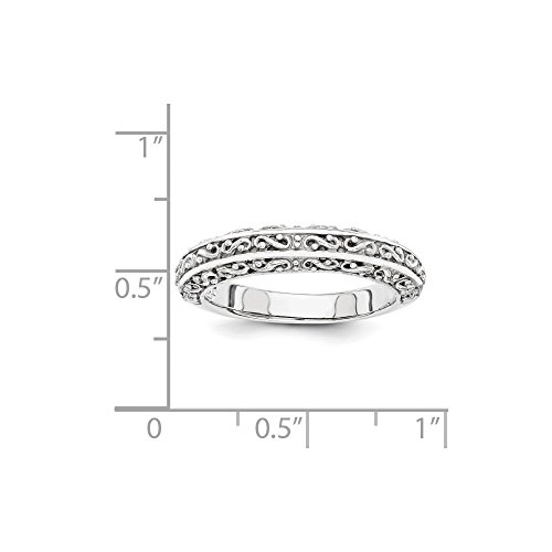 ICE CARATS 14k White Gold Anniversary Wedding Ring Band Size 7.00 Fancy Fine Jewelry Gift Set For Women Heart by ICE CARATS (Image #5)