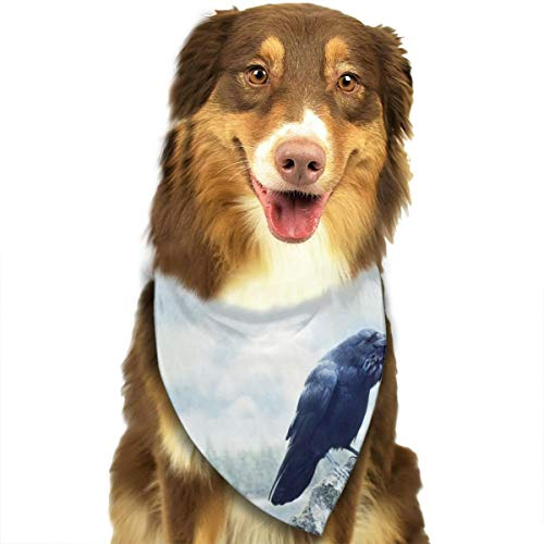 Pet Scarf Dog Bandana Bibs Triangle Head Scarfs Crow Lake Accessories for Cats Baby Puppy ()