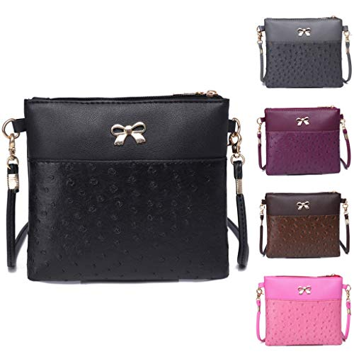 Women Bow Decoration Crossbody Bag Hit Color Shoulder Bags Messenger Bag by VEZAD (Image #5)