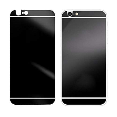 Towallmark(TM)Electroplating Mirror Effect Back Tempered Glass Screen Protector For iPhone 6 Plus (Black)