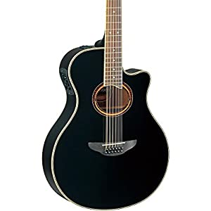 Yamaha APX700II 12-String Thinline Acoustic-Electric Guitar, Black by Yamaha