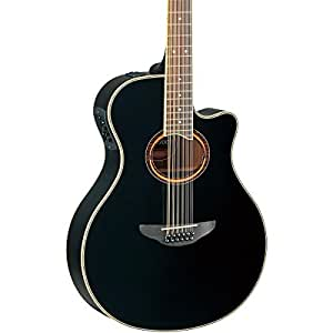 yamaha apx700ii 12 string thinline acoustic electric guitar black musical instruments. Black Bedroom Furniture Sets. Home Design Ideas