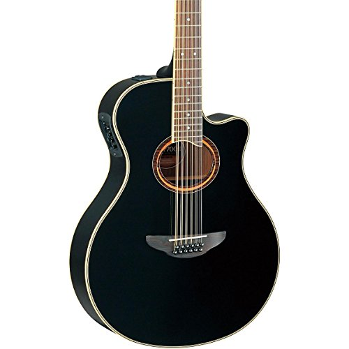 Yamaha APX700II 12-String Thinline Acoustic-Electric Guitar, Black