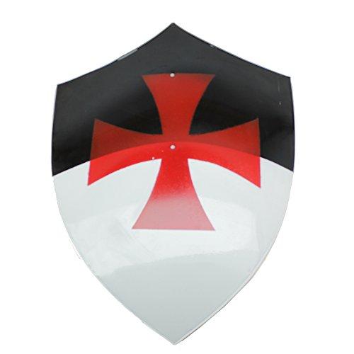 Swordsaxe Knights Templar Bezant Shield Real Steel Byzantium Iron Crusaders Cross ()