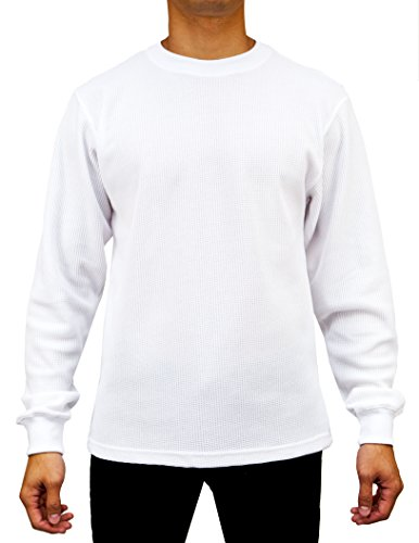 Mens Heavyweight Waffle Thermal Long Sleeve Crew Neck Top