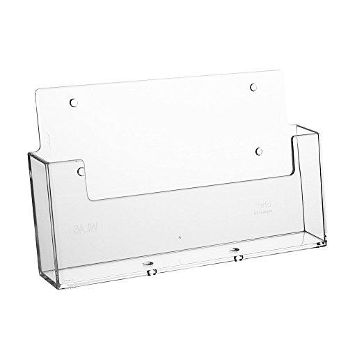 Prospekthalter Wand Din A5 Querformat / Flyerhalter, transparent