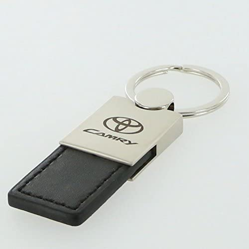 Au-Tomotive Gold Black INC Leather Key Ring for Toyota Camry