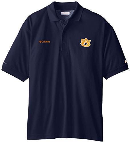 NCAA Auburn Tigers Collegiate Perfect Cast Polo Shirt, Navy, XX-Large