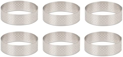 0.75-Inch high O 8-Inch de Buyer 3099.08 Round in Stainless Steel PERFORATED TART RING