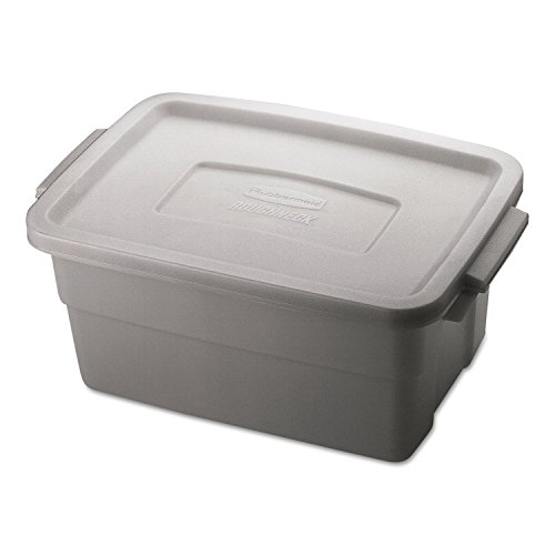 RHP2213STE - Rubbermaid Roughneck Storage Box, 3gal, Steel Gray by Rubbermaid
