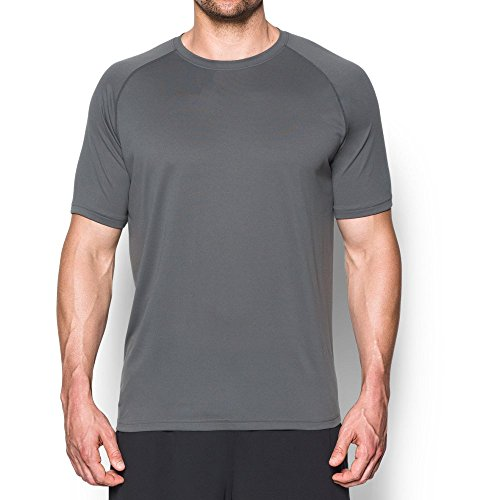 Under Armour Men's Tactical Tech T-Shirt, Graphite/None, (Heatgear Gray T-shirt)