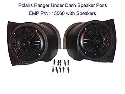 Amazon com: Polaris Ranger Under-Dash Speaker Pod Set (6-1/2