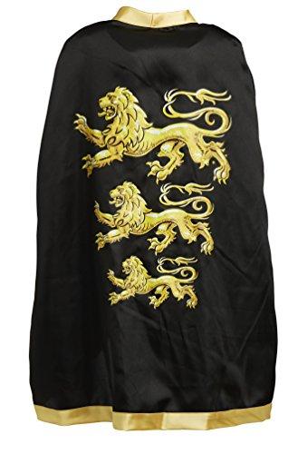 Liontouch King's Cape Triple Lion, Gold/Black, One Size ()