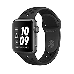 Apple Watch Nike+ Series 3 42mm Smartwatch (GPS, Space Gray Aluminum Case, Anthracite/Black Nike Sport Band Band)