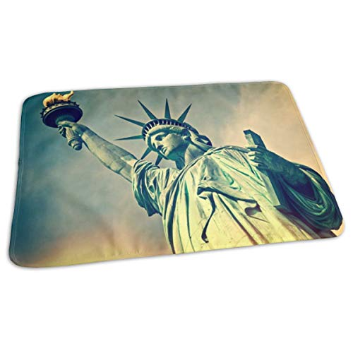 Vicrunning Flame Statue of Liberty Breathable Waterproof Underpads Mattress Bed Pad Diaper Absorbent Urine Pads for Baby Toddler -