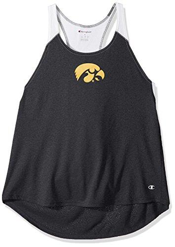 Champion NCAA Iowa Hawkeyes Women's Epic Tank, Medium, Black ()