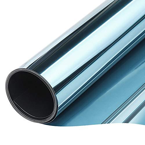 🥇 TTMOW Vinilo Pet Película Adhesiva Lámina de Espejo para Ventanas Cristal Unidireccional Protector de Privacidad Anti 99% UV y Anti 85% IR para Hogar y Oficina