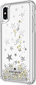 Kate Spade Liquid Glitter Stars Case for Apple iPhone X - Silver/Gold