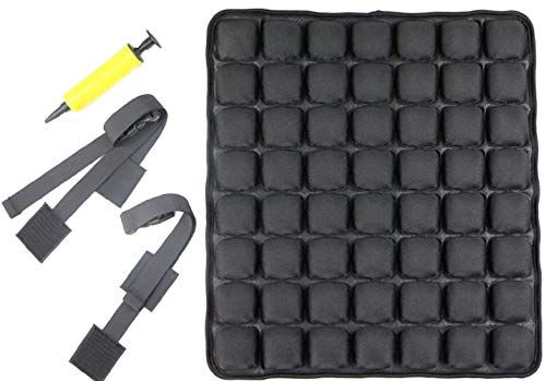 M2S Premium Air SeatComfortable Inflatable Seat Cushion for Office Chair, Wheelchair, Cars, Home Living, and Back Pain Support, (Black)