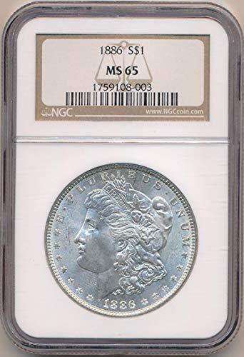 1886 P Morgan Dollar Morgan Dollar MS65 NGC